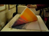 Red Sky at Night - monotype printing story
