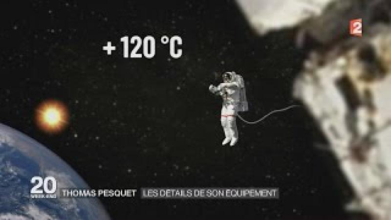 Thomas Pesquet Les Détails de son équipement dans L espace . HD