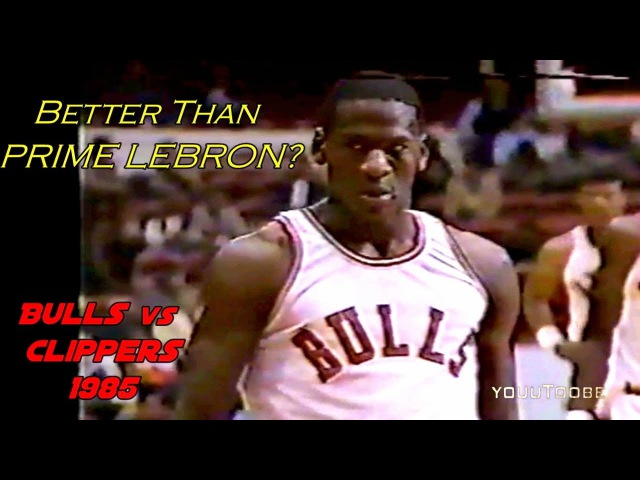Rookie Michael Jordan Destroys LA Clippers in 2 Quarters! Better Than Prime LeBron?