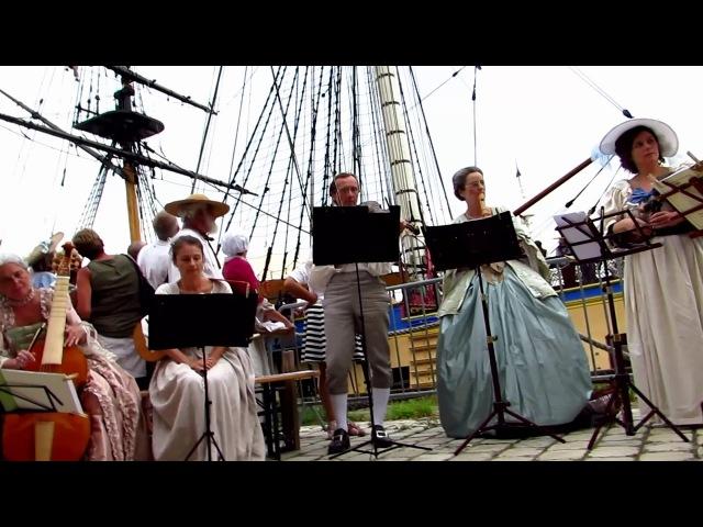 La musette baroque de cour, Rochefort fête La Fayette devant l' Hermione
