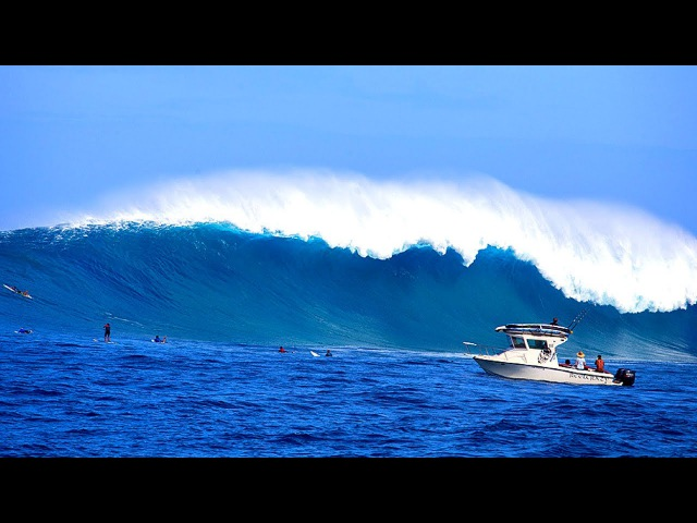 BIG WAVE SURFING COMPILATION 2017 ** JUST ANOTHER DAY AT THE OFFICE **