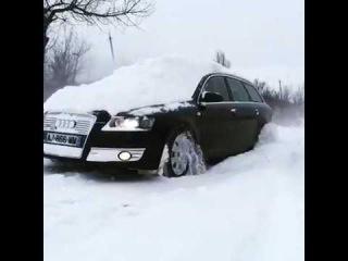 audi a6 c6 и снег