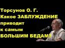 Торсунов О. Г. Какое ЗАБЛУЖДЕНИЕ приводит к самым БОЛЬШИМ БЕДАМ?