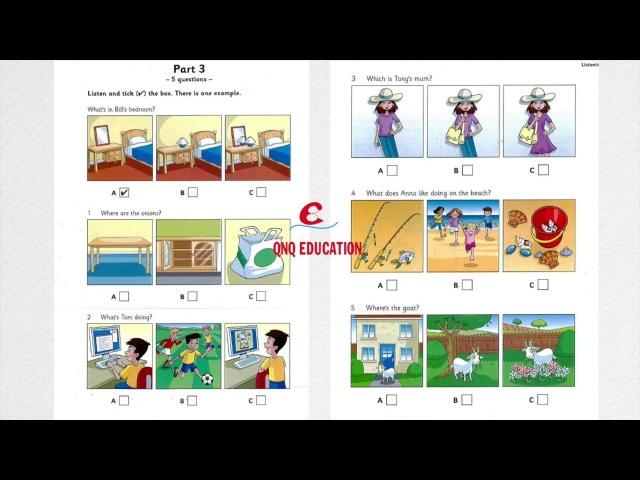 Starters 9 Test 1 Listening paper with answers The best version