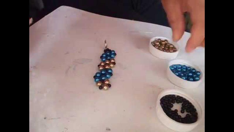 Pulsera combinada de perlas paso a paso