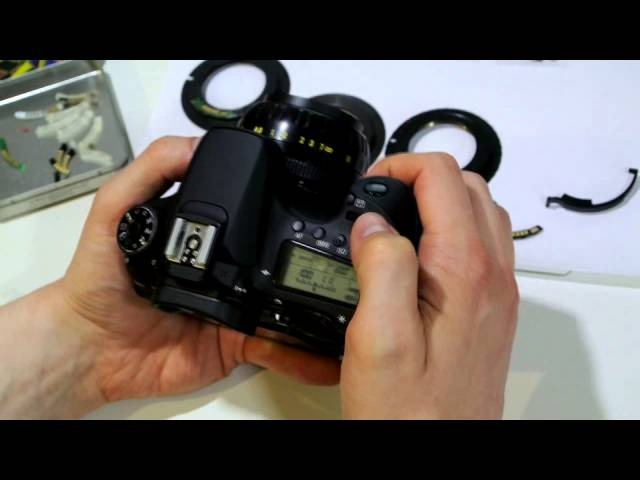 УРОК 2 ПРОГРАММИРОВАНИЕ ДИАФРАГМЫ одуванчика Gfoto X PRO для Canon EOS