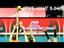 Top 10 Volleyball SPIKE HIGHT (2.92m - 3.04m) | Women's Volleyball