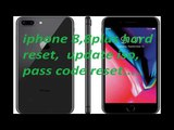 iPhone 8 ,8 plus, Phone X hard reset, how to Force Restart, enter recovery, and DFU mode