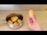 Super Quick Potato Peeling! - Life Hack
