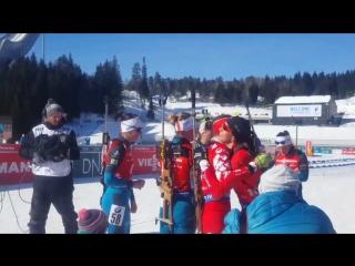 Мари Дорен-Абер и Джулия Рэнсом прощаются со спортом (Хольменколлен 2018)