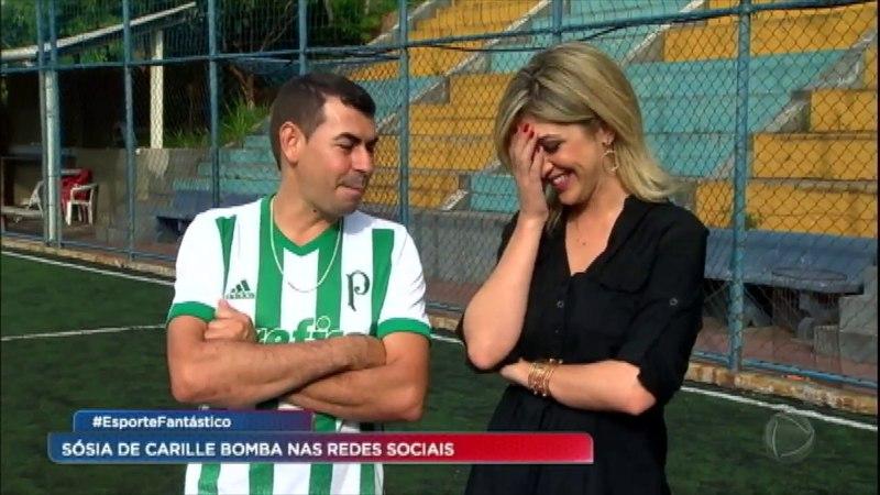 """""""A diferença é que ele tem mundial e eu não, diz sósia palmeirense de Carille do Corinthians"""