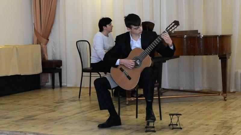Э.Вилла- Лобос Концерт для гитары с оркестром 2ч. Исполняет Георгий Бобин