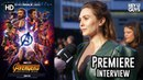Elizabeth Olsen on Scarlet Witch/Vision a solo film - Avengers Infinity War Premiere Interview
