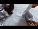 ОРИГАМИ. DIY Новогодний шар из бумаги. Шар на елку за 5 минут. Игрушка на елку (1)