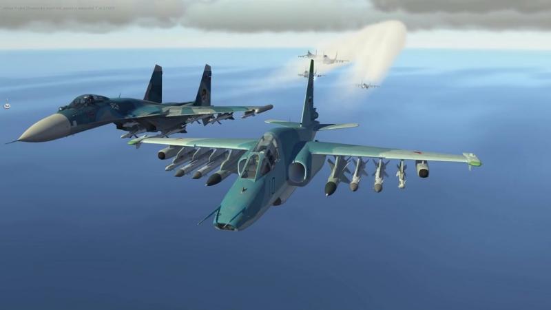 HUGE Air War After Naval Base Attack _ Su-33 Su-27 Mig-29 Su-25 _ DCS