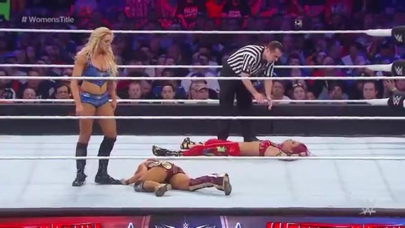 FULL MATCH - Charlotte vs. Sasha Banks vs. Becky Lynch - WWE Womens Title Match