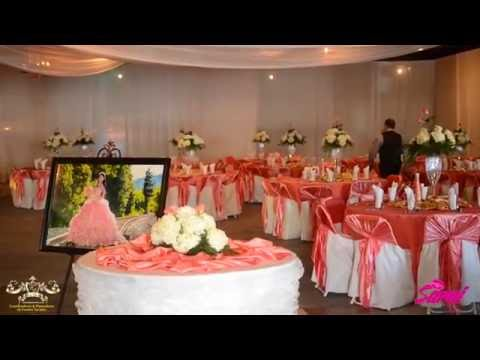 FAOS EVENTS DECORACION COLOR CORAL Y ORO EN EL TAO EVENT CENTER
