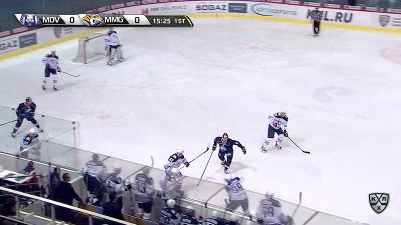 Моменты из матчей КХЛ сезона 17/18 • Гол. 1:0. Франсис Паре (Медвешчак) распечатал ворота магнитогорцев 21.12
