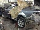 Наши работы по Mazda 6 продолжение 1 : Замена двух порогов, замена двух задних арок, ремонт капота, ремонт крыши с покраской.