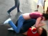 (16) Women girls catfight