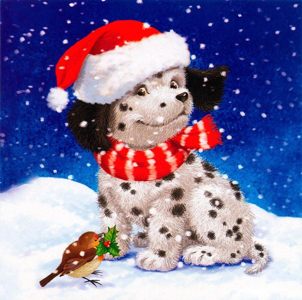 Новогодние открытки с символами года, открытки днем