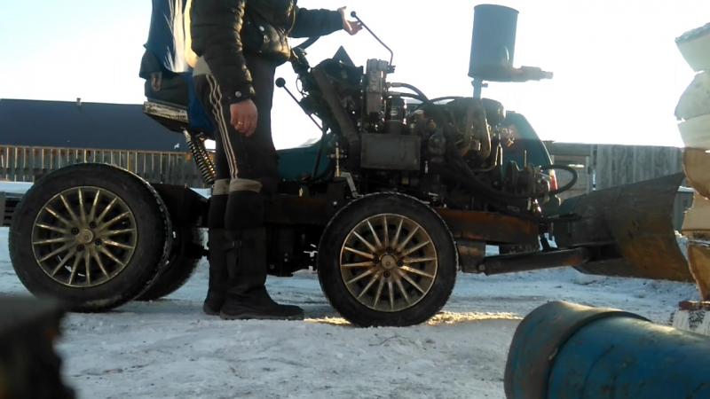мини трактор своими руками, гидравлика