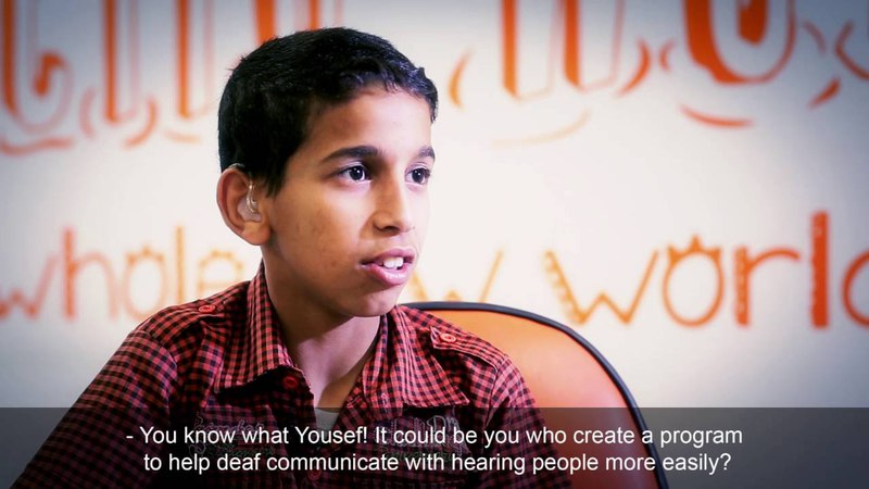 Yousef a Jordanian 12-year Deaf and Mute Programmer Kid