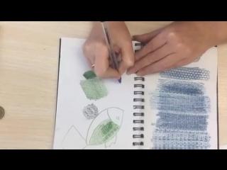 Фроттаж - приём работы карандашом родом из детства.