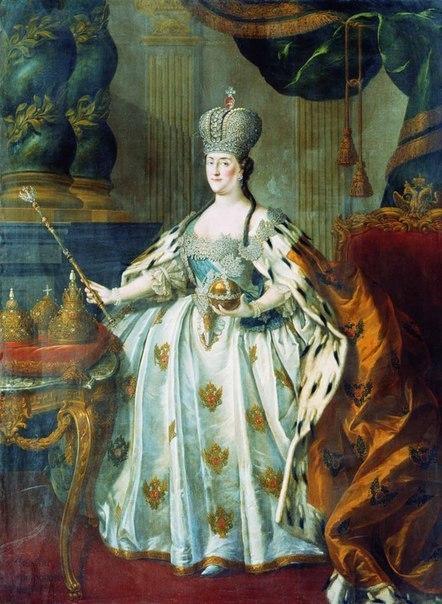 Великая императрица Екатерина II по-русски говорила с сильным акцентом и страшно неграмотно писала