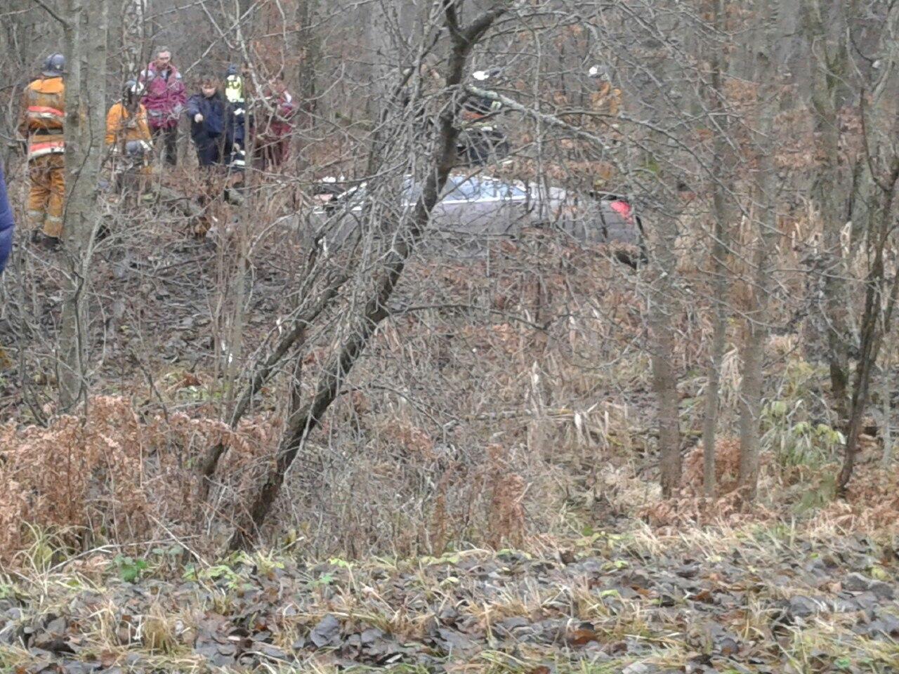 На трассе P128 Mercedes вылетел с дороги, трое погибших из Ольшан