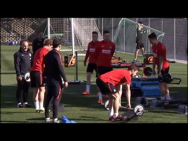 El Atlético de Madrid se entrena a la espera del regreso del resto de internacionales