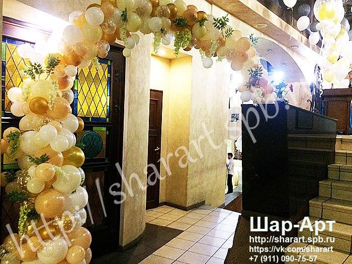 Спецпредложения , Скидки  и Акции на воздушные шары . большие шары с кисточками и гирляндой тассел ,  гирлянда и арки из разно размерных шаров с цветами