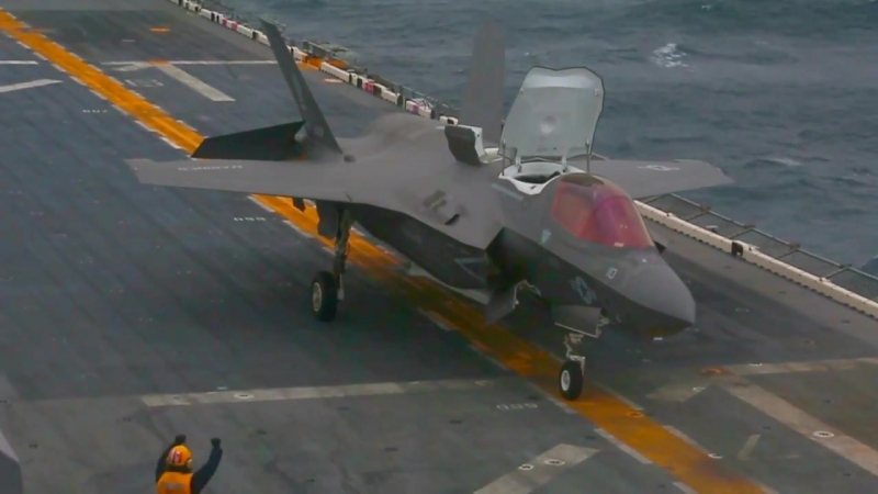 USS Wasp (LHD 1) With F-35B
