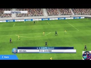 PSG vs RM PES18 mobile (ПСЖ vs Реал Мадрид 2)