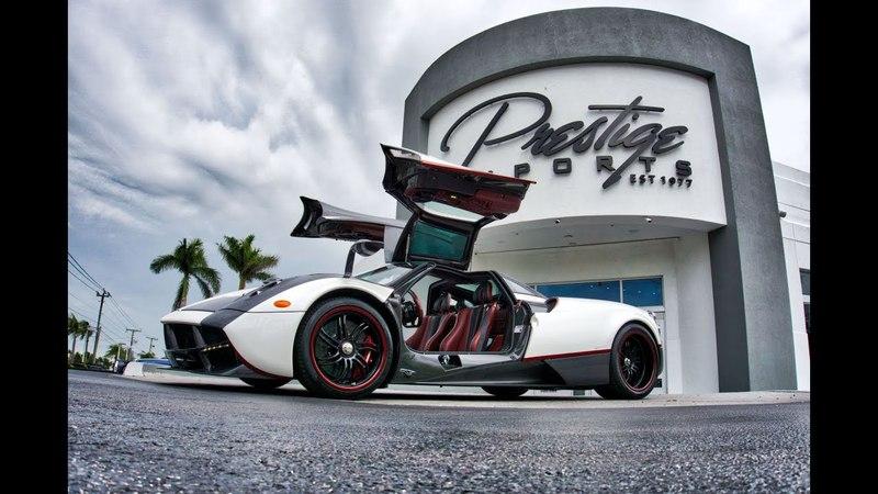 Pagani Huayra Start Up Drive Interior Exterior Dancing With Most Beautiful Car at Pagani Miami
