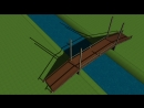 МоРст 3 я примитивная анимация проекта моста через реку Векса
