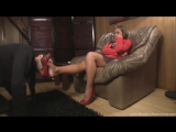 Goddess Jessica Femdom Foot fetish Фут-фетиш Вылизывает туфлей подставка для ног slave licking shoes #heels