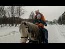 впервые катаемся на лошадке
