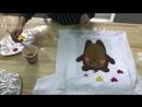 Выездной мастер класс по росписи футболок сладкие мишки