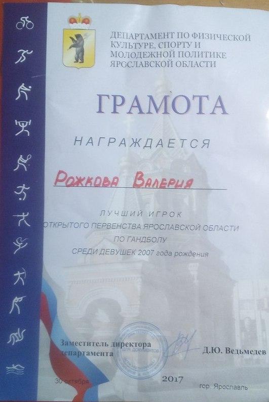 Ученица школы №88 стала лучшей гандболисткой Открытого Первенства Ярославской области