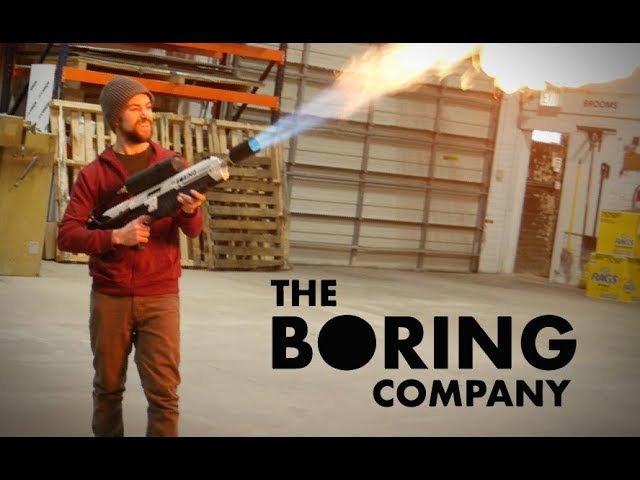 I Built The Boring Company Flamethrower!