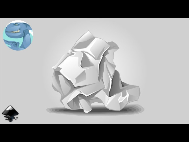 How to draw crumpled paper in Inkscape