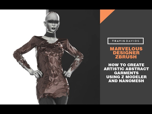 Marvelous Designer Zbrush - How To Create Artistic Abstract Garments