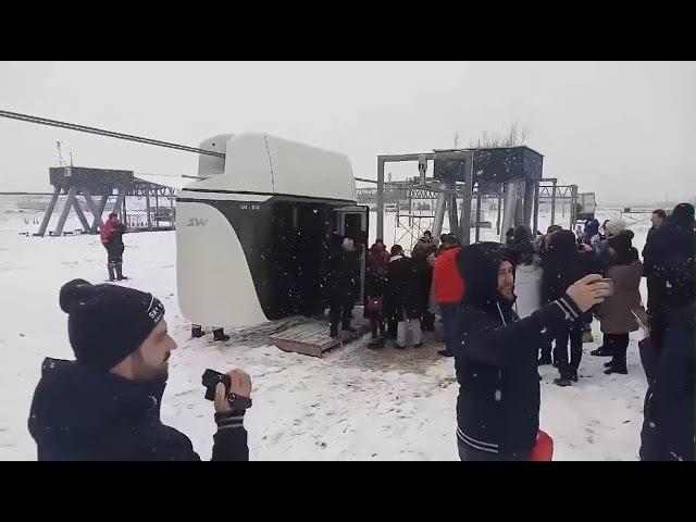 SkyWay Unibus SkyWay с 14 людьми в действии