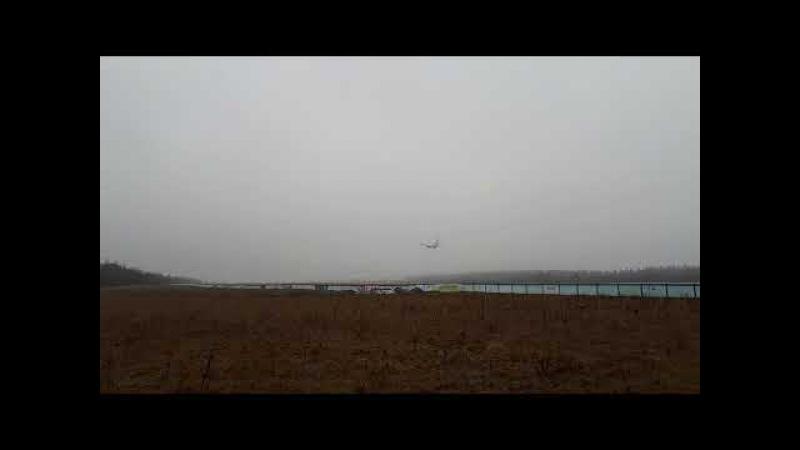 Национальный аэропорт Минск. Посадка самолёта.