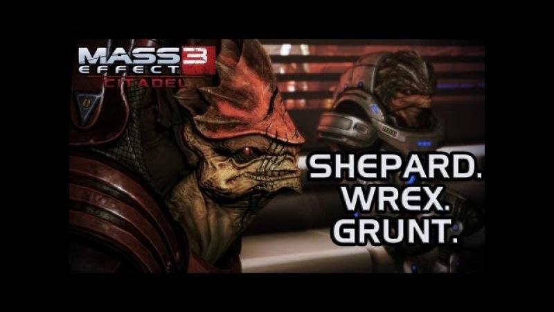 Mass Effect 3 Citadel DLC: Shepard. Wrex. Grunt. (FemShep version)