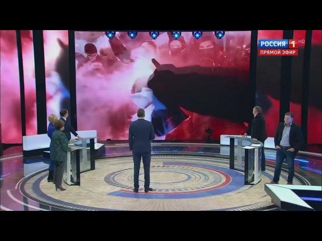 Украина ПОГРОМ И ХАОС Националисты закидали камнями и сожгли флаг России в Киеве