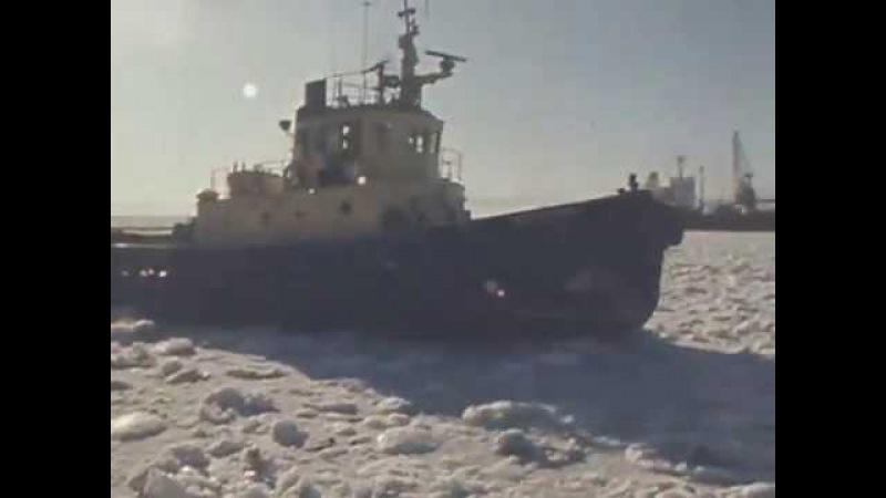 Дальний Восток закован в лед | Программа Время, эфир 15.02.1978 г.