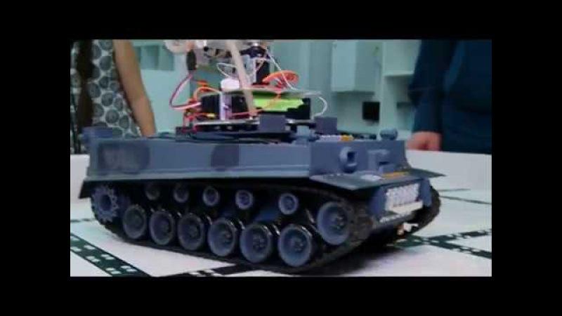 22 11 17 Робота-пожарного на танковой основе изобрели восьмиклассники из Ижевска