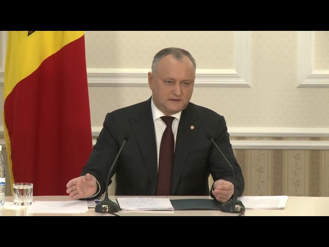 Președintele Moldovei, Igor Dodon în dialog cu jurnaliști din 12 decembrie 2017